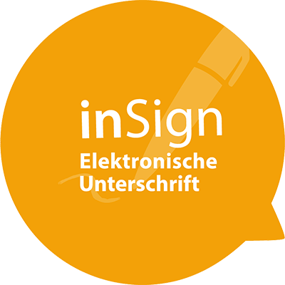 Speech Bubble inSign Elektronischer Antrag